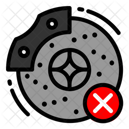 Disc Brake Broke Icon