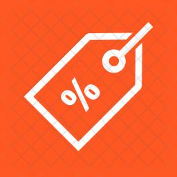 Discount Line Icon