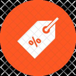 Discount Glyph Icon
