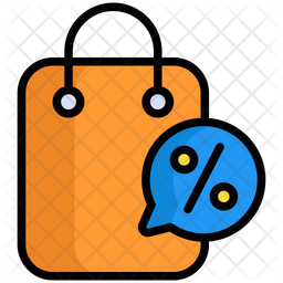 Discount Colored Outline Icon
