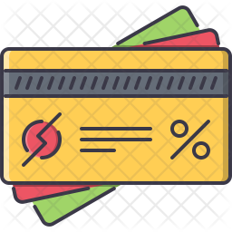 Discount Card Icon Of Colored Outline Style Available In Svg Png Eps Ai Icon Fonts