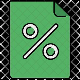 Discount file Colored Outline Icon