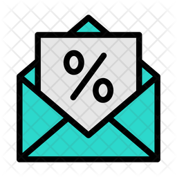 Discount Mail Colored Outline Icon
