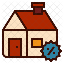 Discount on home Icon