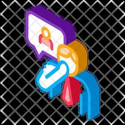Discussion Isometric Icon
