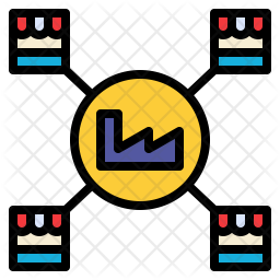 Distribute factory Icon