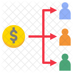 Distribute money Icon