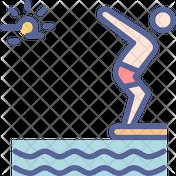 Dive Colored Outline Icon