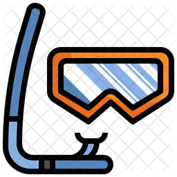 Diving Mask Colored Outline Icon
