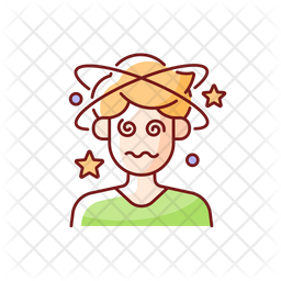 Dizziness and confusion Icon