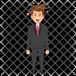 Dizzy Businessman Icon