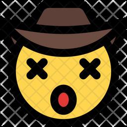 Dizzy Cowboy Emoji Icon
