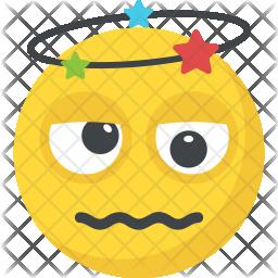 Dizzy Emoji Flat Icon