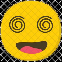Dizzy Face Flat  Emoji Icon