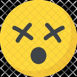 Dizzy Face Flat Icon