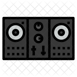 Dj Controller Colored Outline Icon