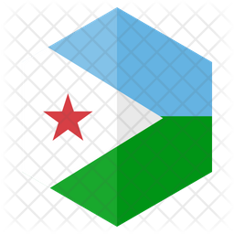Djibouti Flag Icon Of Flat Style Available In Svg Png Eps Ai Icon Fonts