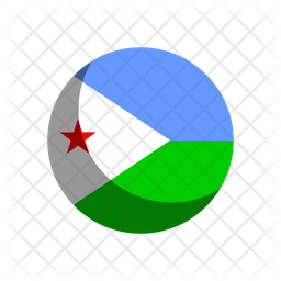 Djibouti Flag Icon Of Rounded Style Available In Svg Png Eps Ai Icon Fonts