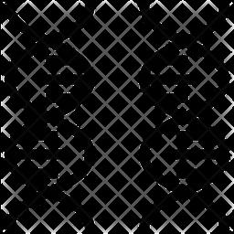 DNA Line Icon