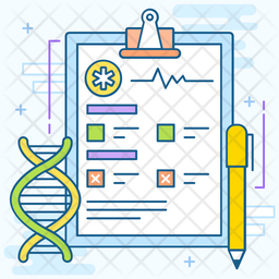 DNA Examination Colored Outline Icon