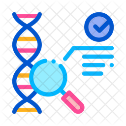 Dna Test Colored Outline Icon