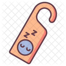 Do Not Disturb Icon Of Colored Outline Style Available In Svg Png Eps Ai Icon Fonts