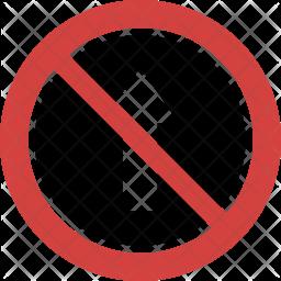 Do not go straight Icon