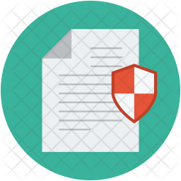 Document and shield Icon
