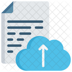 Document Cloud Upload Icon
