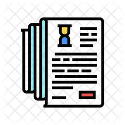 Documentation Colored Outline Icon