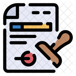 Documents Colored Outline Icon