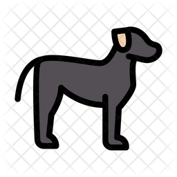 Dog Icon Of Colored Outline Style Available In Svg Png Eps Ai Icon Fonts