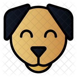 Dog Colored Outline Icon