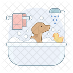Dog Bathtube Icon
