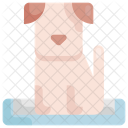 Dog bed Flat Icon