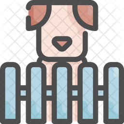 Dog cage Colored Outline Icon