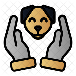 Dog Care Colored Outline Icon