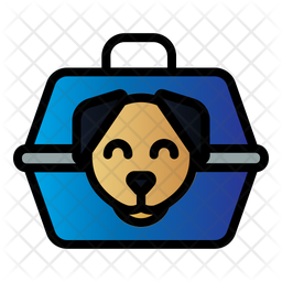 Dog Carrier Colored Outline Icon