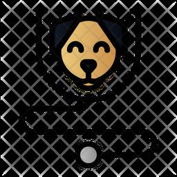 Dog Checkup Colored Outline Icon