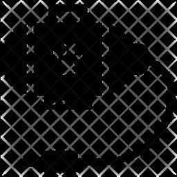 Dog Dryer Glyph Icon