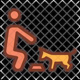Dog Eating Icon