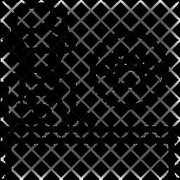 Dog Groomer Line Icon