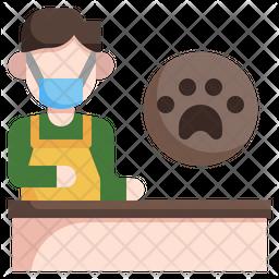 Dog Groomer Flat Icon