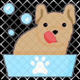 Dog Grooming Flat Icon