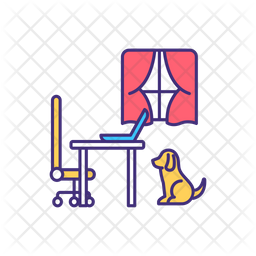 Dog isolation at home Icon