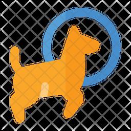 Dog Jumping Icon