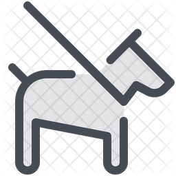 Dog Leash Colored Outline Icon
