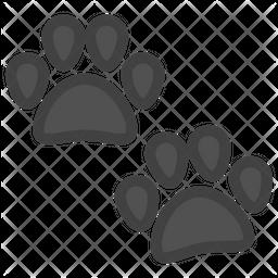 Dog Paw Emoji Icon