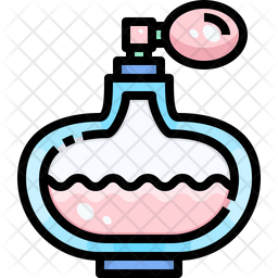 Dog Perfume Colored Outline Icon