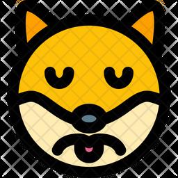 Dog Sad Colored Outline  Emoji Icon